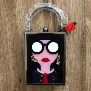 NEW!!! Chic Lady with Glasses Bag